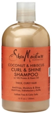 Shea Moisture Coconut & Hibiscus Curl & Shine Shampoo 13oz review