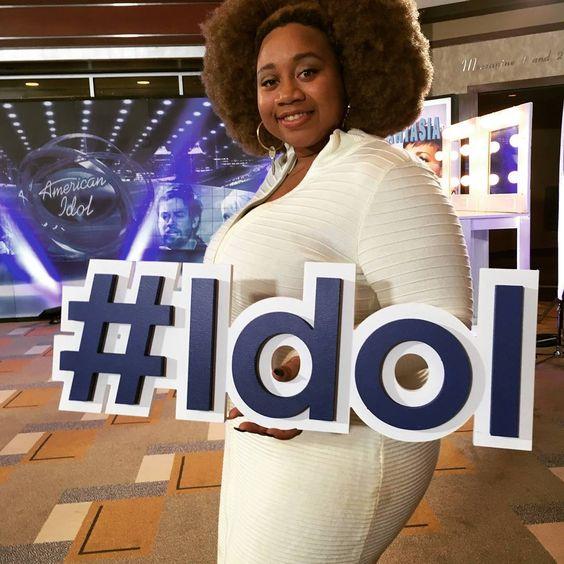 American Idol with natural hair la porsha renae
