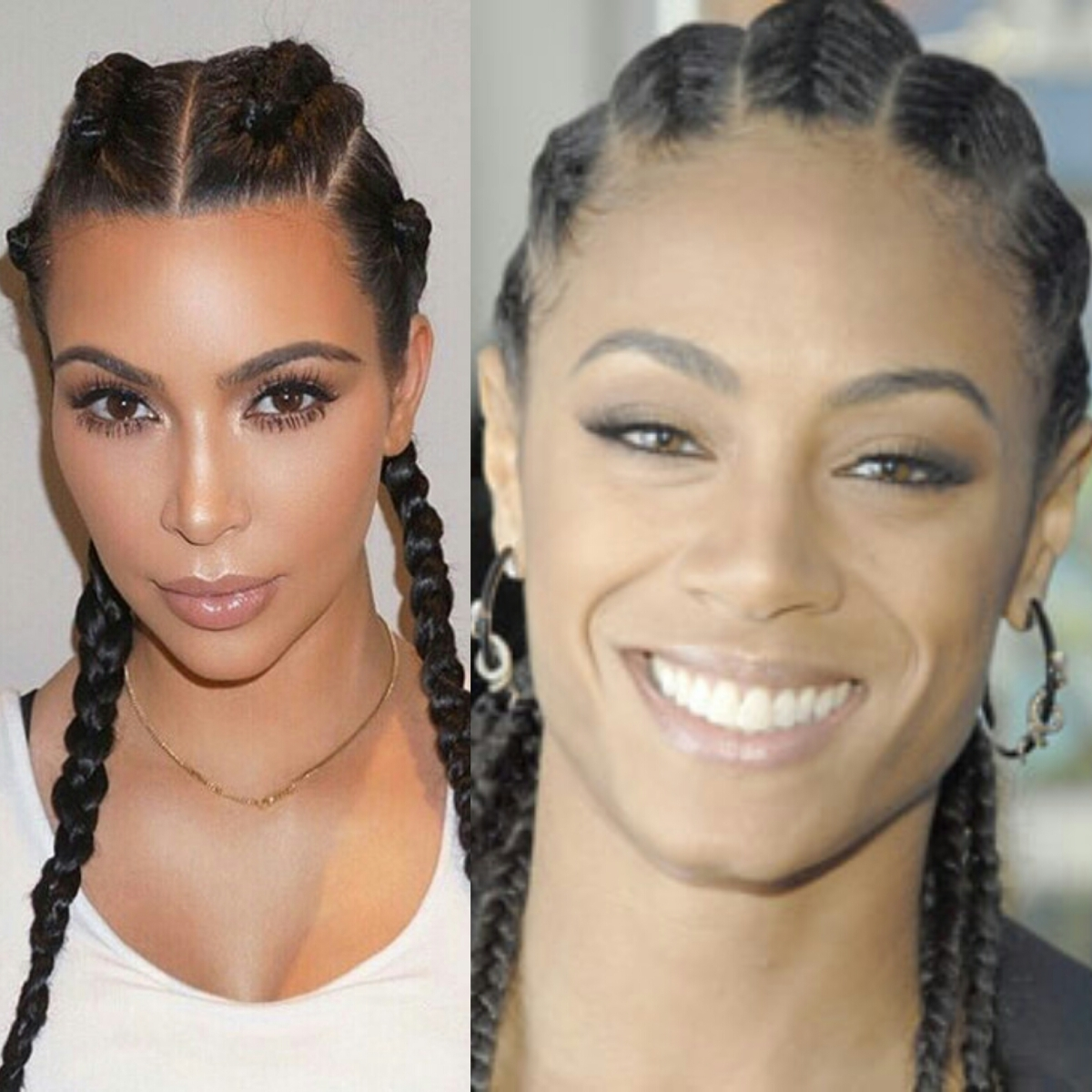 Kim Kardashian Boxer Braids or CornRows ?