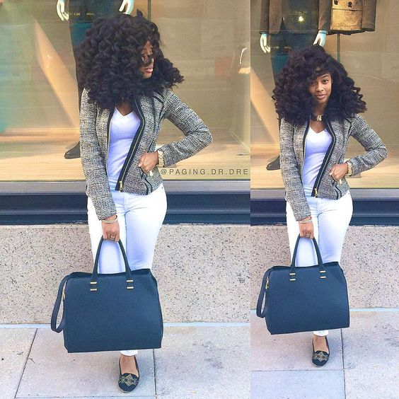 naturally curly hair business woman