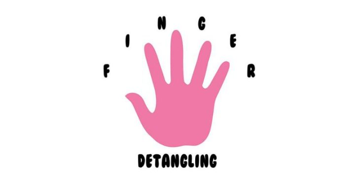 Finger Detangling Curly Natural Hair Logo