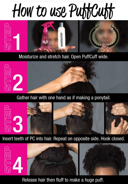 natural hair puff and curly ponytail